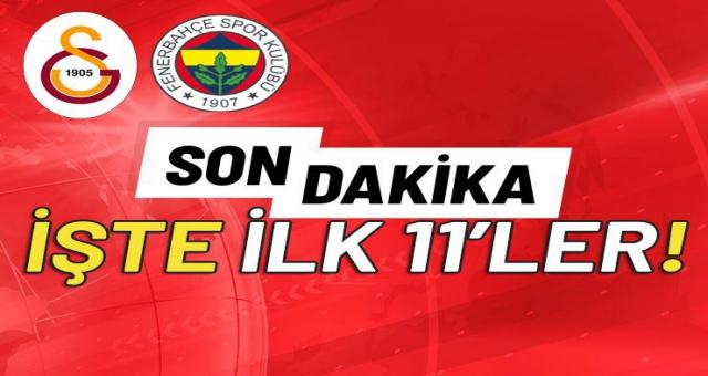Derbi saat kaçta? Galatasaray - Fenerbahçe derbi saat kaçta, hangi kanalda? (Gs - Fb işte 11'ler)