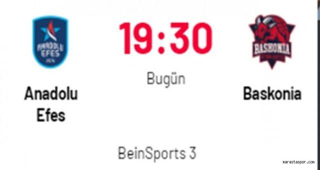 Anadolu Efes - Baskonia maçı izle