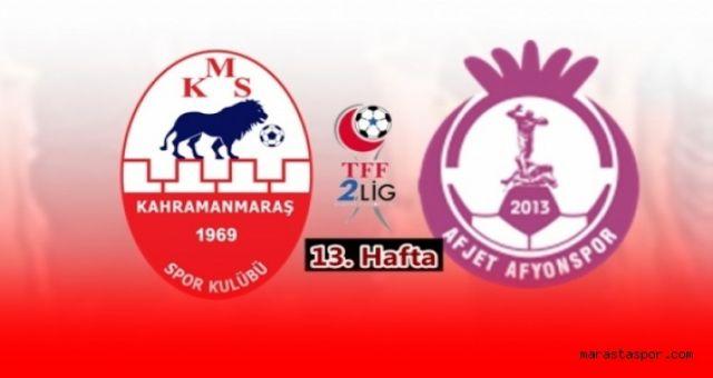 Kahramanmaraşspor - Afjet Afyonspor maçı canlı izle