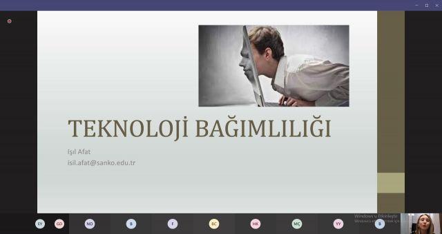 Sanko Üniversitesinde Teknoloji Bağımlılığı Online Konferansı