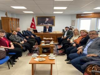 Rektör Can, Bozcaada Kaymakamı Gültekin ve Geyikli Belediye Başkanı Oruçoğlu'nu Ziyaret Etti