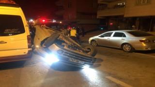 Kahramanmaraş'ta Trafik Kazası Otomobil Takla Attı İki Kişi Yaralandı