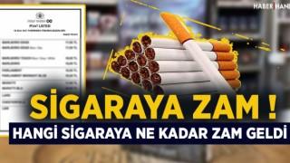 Sigaraya zam geldi mi? Hangi sigaralara zam var? Sigara fiyatları güncel liste 4 Ekim! Sigara Fiyatları Yeni Liste