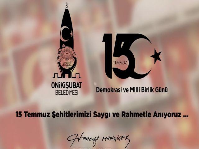 Onikişubat Belediyesinden 15 Temmuz Şehitlerine Özel Klip